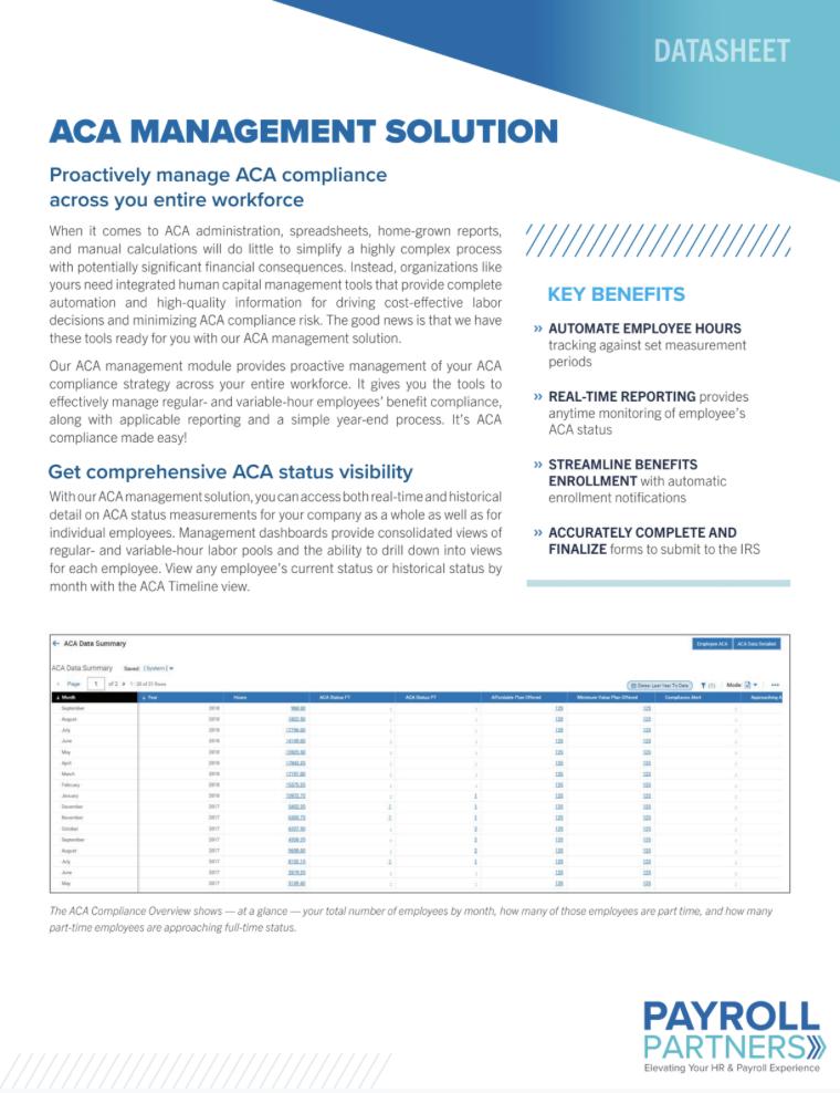 ACA Management Solution