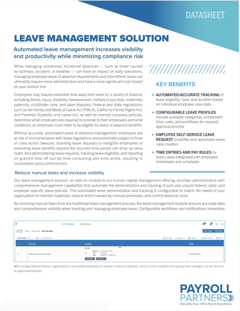 Leave Management Solution