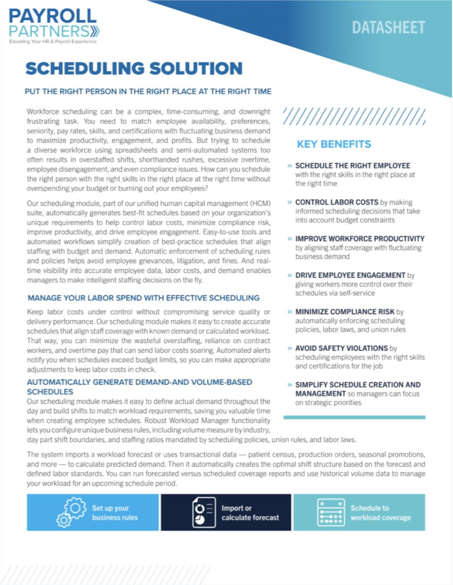 Scheduling Solution