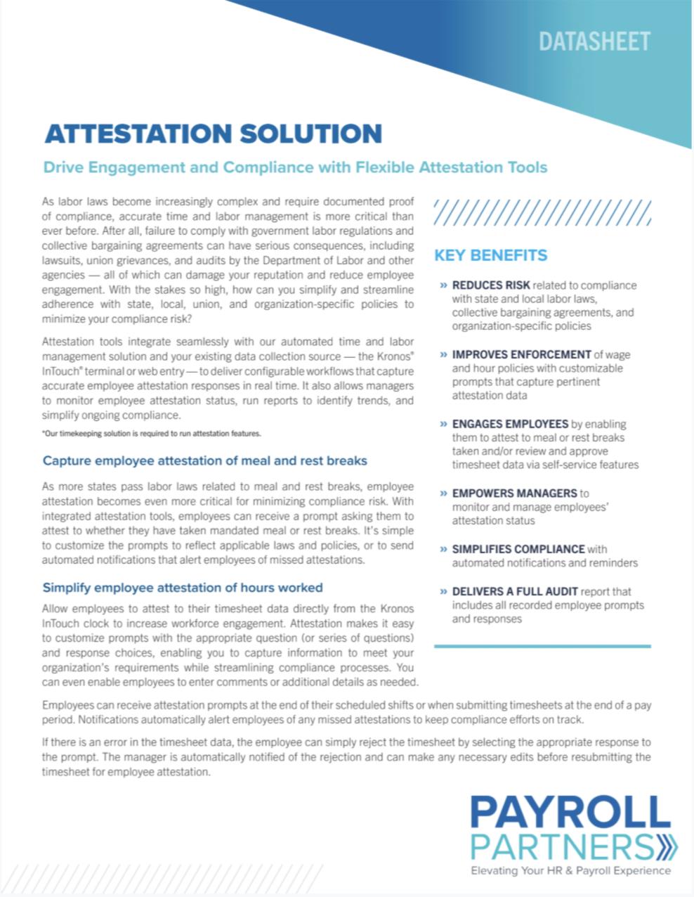 Attestation Solution